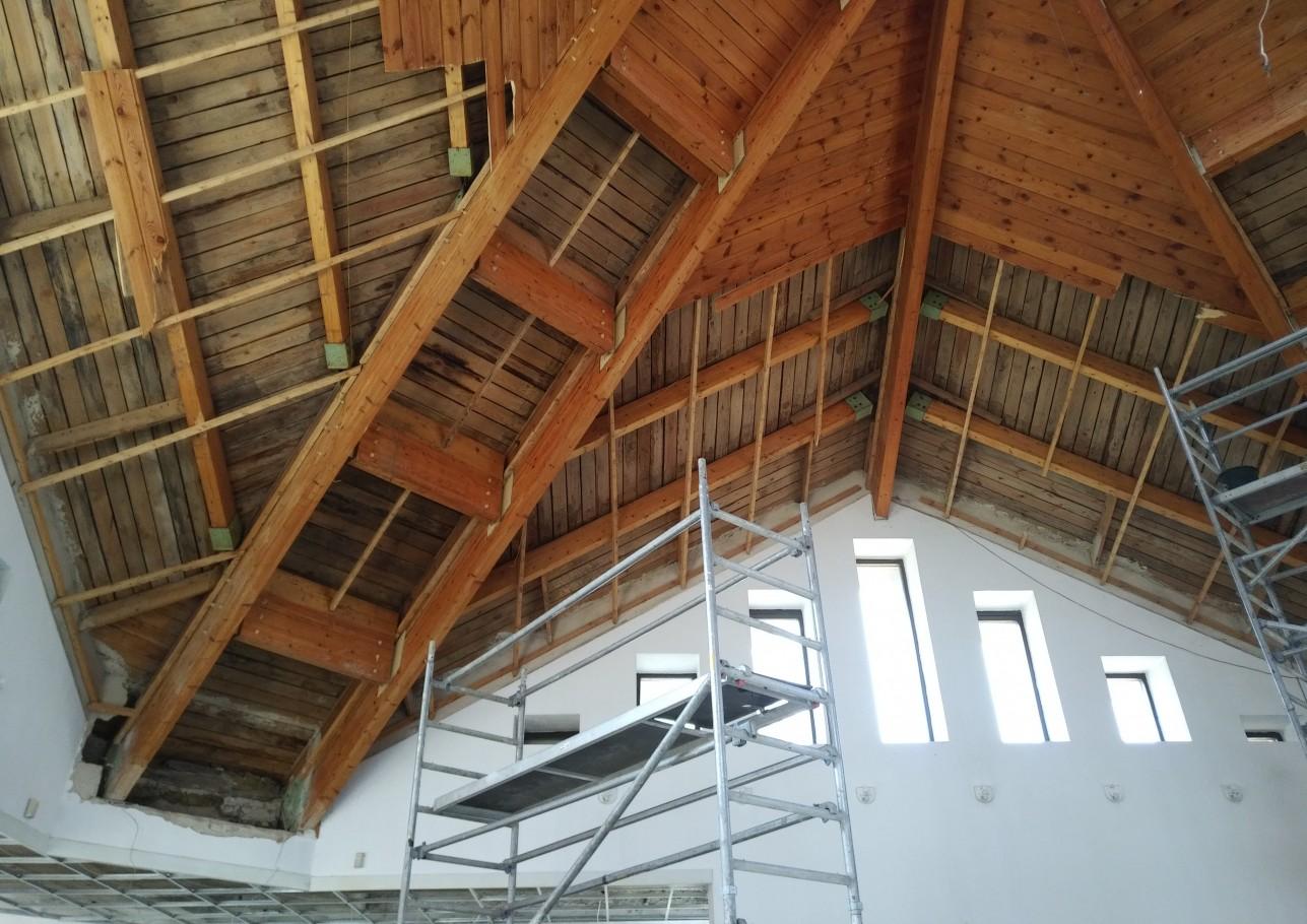 Šlaitinio stogo įrengimas 2